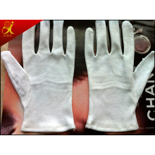 Cotton Material White Working Gloves